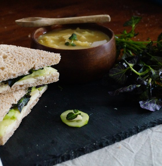 Watercress Sandwiches & Soup